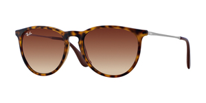 RAY-BAN Erika RB4171 865/13 RUBBERIZED HAVANA BROWN GRADIENT