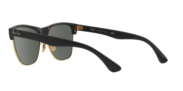 RAY-BAN RB4175 CLUBMASTER OVERSIZED » DEMI SHINY BLACK CRYSTAL GREEN