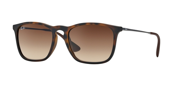 RAY-BAN RB4187 CHRIS » RUBBER HAVANA GRADIENT BROWN