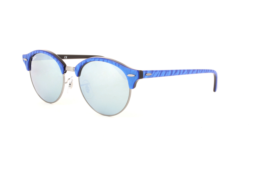 7312a6518c RAY-BAN Clubround RB4246 984 30 TOP WRINKLED BLU ON BLACK