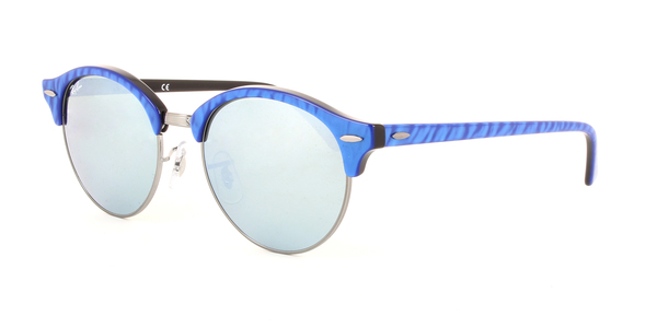 RAY-BAN RB4246 Clubround 984/30 TOP Wrinkled BLU ON Black