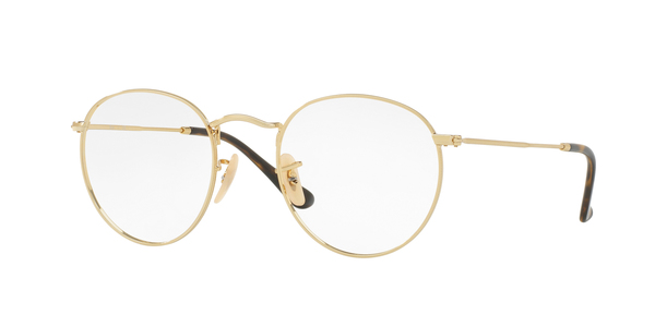 RAY-BAN ROUND METAL RX3447V » GOLD
