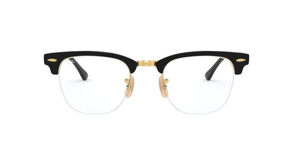 RAY-BAN CLUBMASTER METAL » GOLD ON TOP BLACK
