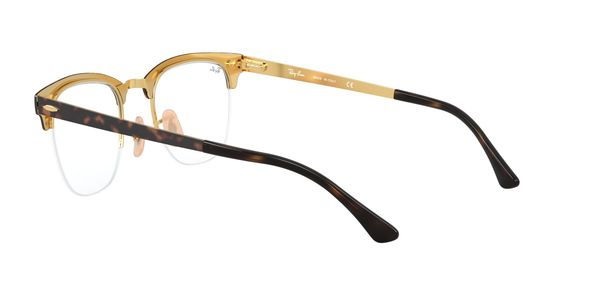 RAY-BAN CLUBMASTER METAL » GOLD ON TOP HAVANA