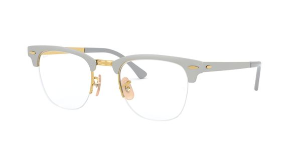 RAY-BAN CLUBMASTER METAL » GOLD ON TOP MATTE GREY