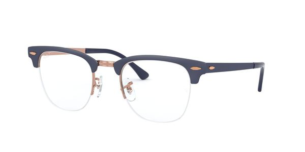 RAY-BAN CLUBMASTER METAL » COPPER ON TOP MATTE DARK BLUE