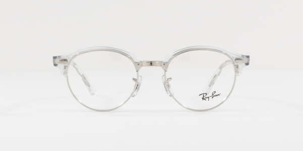 RAY-BAN RX4246V CLUBROUND » WHITE TRASPARENT