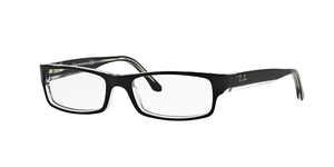 RAY-BAN  RX5114-2034 TOP BLACK ON TRANSPARENT