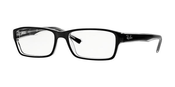 RAY-BAN RX5169 » TOP BLACK ON TRANSPARE