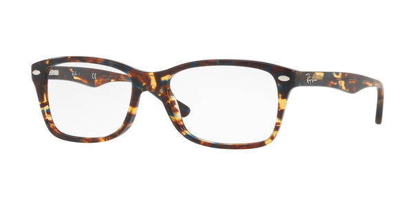 RAY-BAN RX5228 » SPOTTED BLU/BROWN/YELLOW