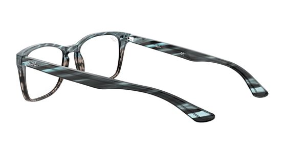 RAY-BAN RX5228M » BLUE GRADIENT GREY STRIPPED