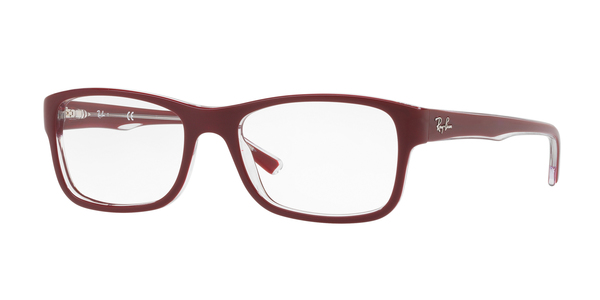 RAY-BAN RX5268 » TOP BORDEAUX ON TRASPARENT