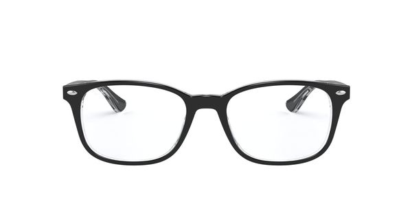 RAY-BAN RX5375 » TOP BLACK ON TRANSPARENT