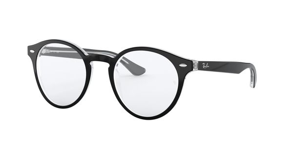 RAY-BAN RX5376 » TOP BLACK ON TRANSPARENT