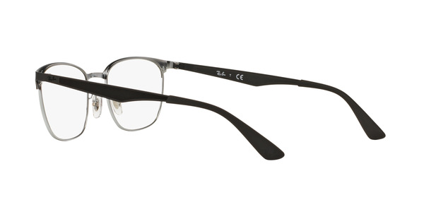 RAY-BAN RX6356 » TOP BLACK ON SHINY SILVER