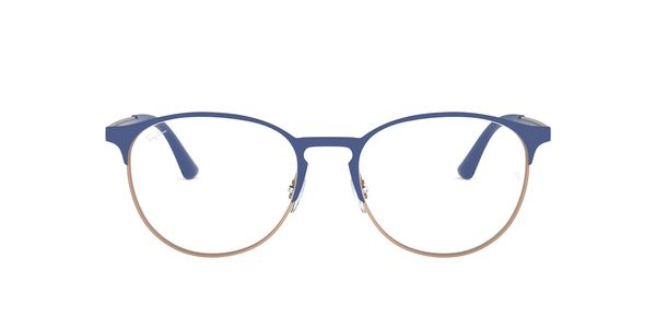 RAY-BAN RX6375 » MATT BLUE ON RUBBER COPPER