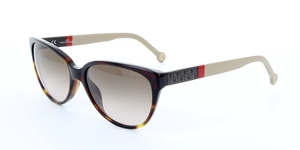 Carolina Herrera SHE572 04AP BLACK/RED/BEIGE / BROWN GRADIENT