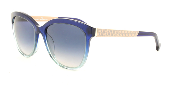 CAROLINA HERRERA SHE647 » BEIGE / DARK BLUE / BLUE GRADIENT