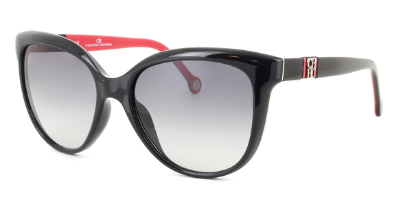 CAROLINA HERRERA SHE697 » BLACK / GREY GRADIENT