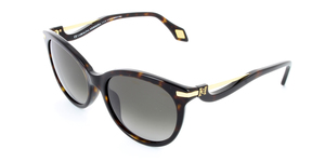 CAROLINA HERRERA NEW YORK  SHN546-0722 GOLD / DARK HAVANA