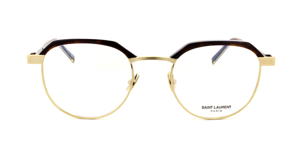 SAINT LAURENT SL 124 » SHINY DARK HAVANA/SHINY ENDURA GOLD