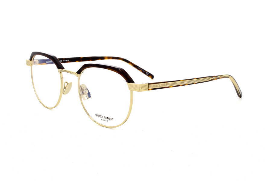 0a17f5516b SAINT LAURENT SL 124 003 SHINY DARK HAVANA SHINY ENDURA GOLD